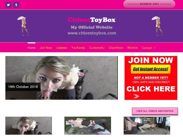 Chloes Toy Box With Sliiing