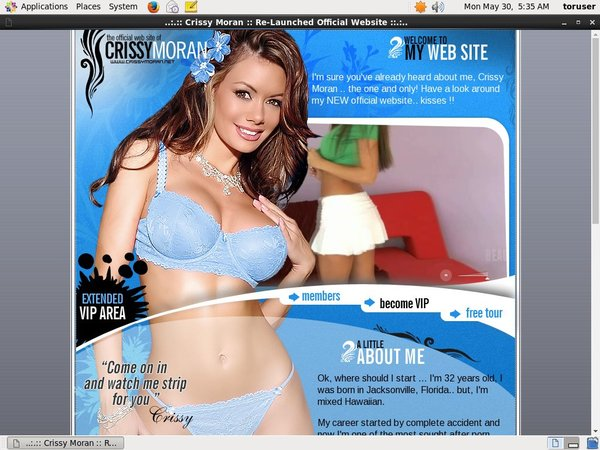 Crissy Moran Wire Payment