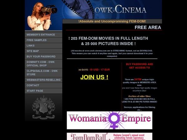 Free Account Premium Owk Cinema