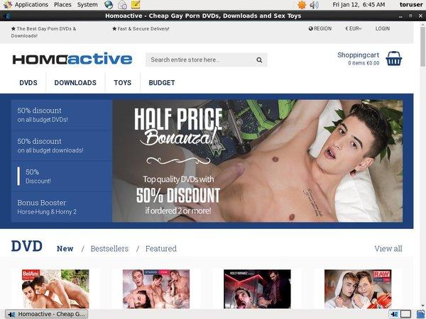 Homoactive Sign Up