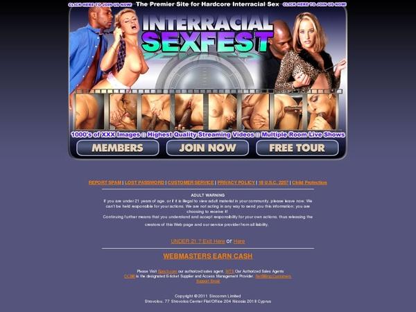 Interracial Sex Fest User Name Password