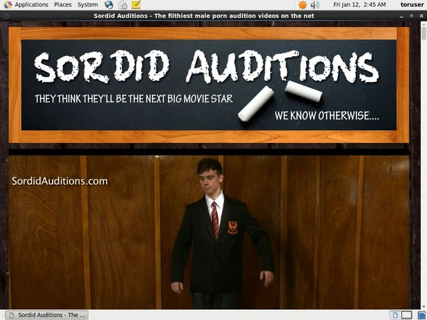 Sordidauditions.com Free Acc