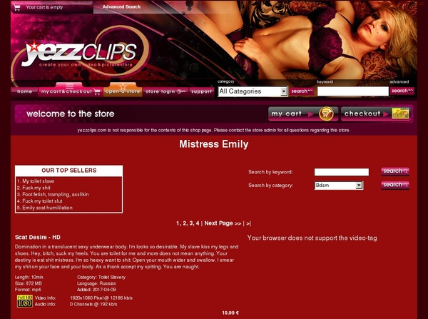 Mistress Emily Discount Membership